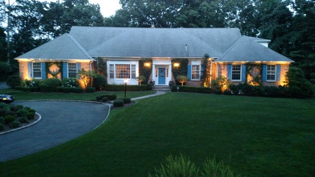 Edgar Manor Greenwich Landscape Lighting - After : lighting greenwich ct - www.canuckmediamonitor.org