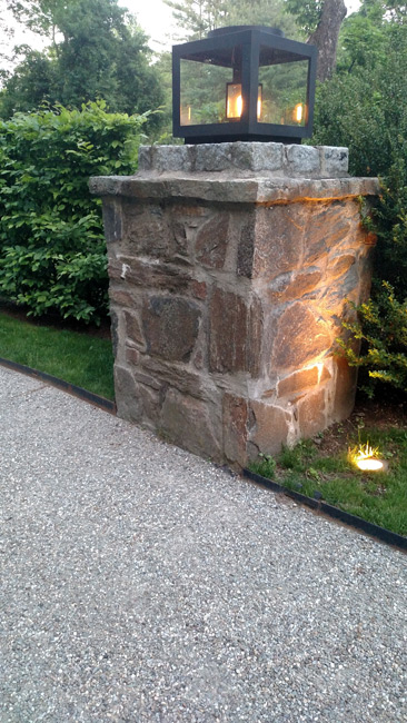 Plan and install landscape lighting project at edgar manor for Manor house landscape lighting